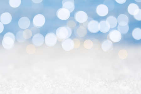Abstract winter background with bokeh lights Standard-Bild