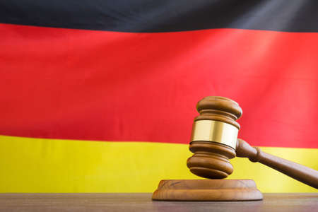 Judge gavel against German flag