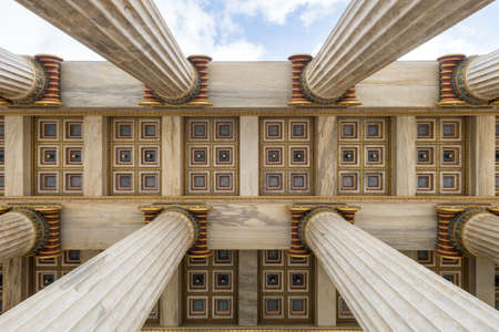 Low angle view of architectural columns