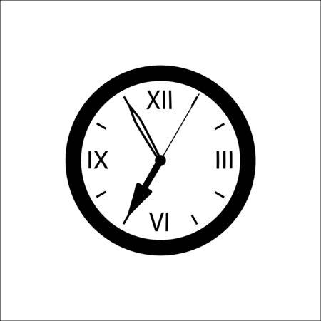 seven o'clock: Wall clock showing seven oclock time.