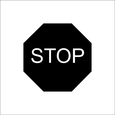 motorist: Road sign - stop .Vector.