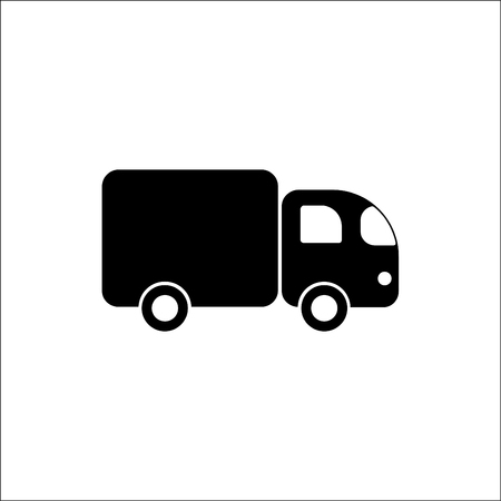 auto service: Freight car. Vector icon. Illustration