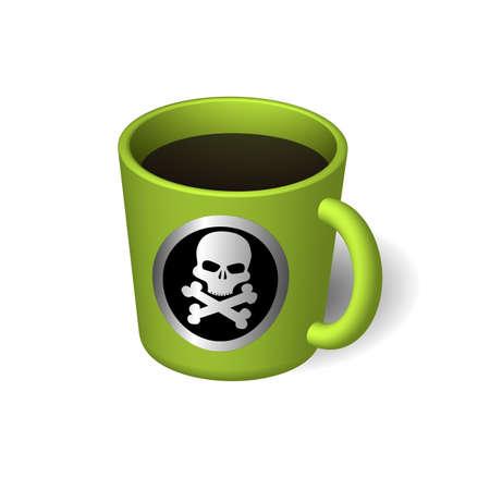 black liquid: Cup with a black liquid