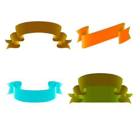 peeling corner: decorative ribbons