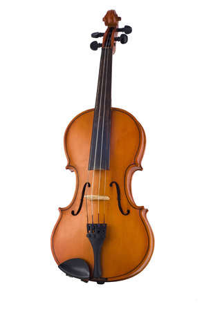 fiddles: Antique violin isolated on the white background