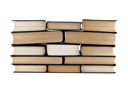 Stack of books isolated on the white background photo