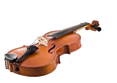 Beautiful violin isolated over white