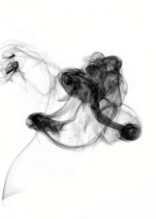 inverted: Puff of smoke inverted on the white