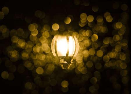 Streetlamp at night photo