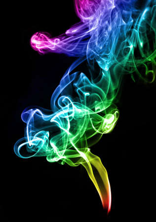 Gradient color smoke abstract on the white photo