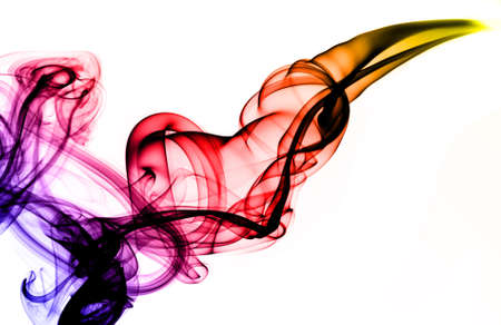 Colorful Magic fume abstract over white background