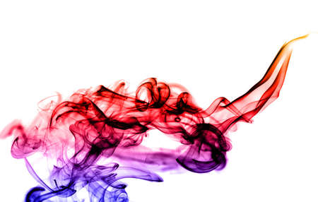 fume: Gradient colored fume abstract over white background