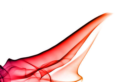 fume: Colorful Fume Abstract over white background