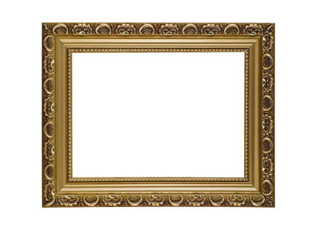 Empty horizontal frame for picture or portrait isolated photo