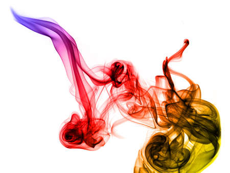 fume: Gradient colored fume on the white background inverted