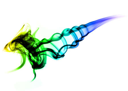 fume: Abstract colorful Fume on the white background Stock Photo