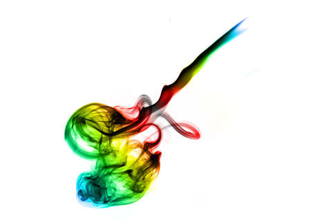 fume: Colorful Magic abstract fume curves over white
