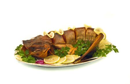 sheatfish: Cena - estaba repleto de agua dulce de sheatfish con lim�n y perejil