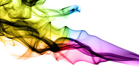 fume: Bright fume abstract curves over white background
