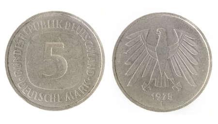 obverse: 5 Marks - German money. Obverse and reverse