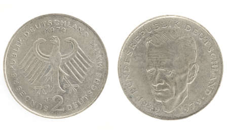 Two Marks - German money. Obverse and reverse photo