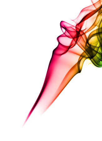 Abstract Color - fume  shapes over white background Stock Photo - 6615879