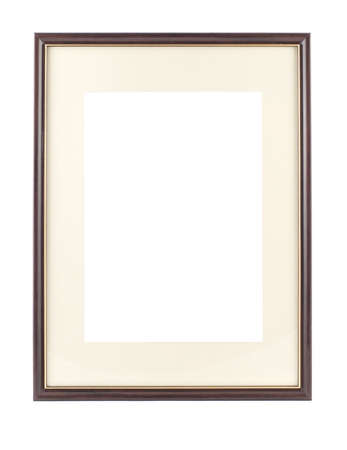 Empty frame for picture or portrait isolated photo