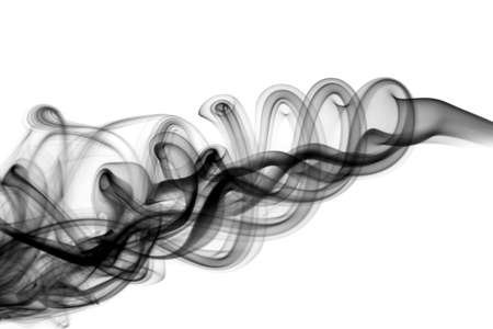 Magic puff of abstract smoke waves over the white background Stock Photo - 6615869