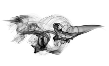 Smoke Abstract pattern over the white background Stock Photo
