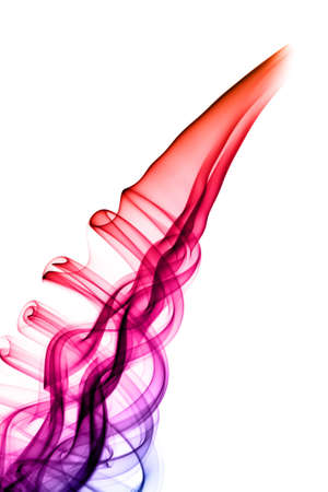 fume: Bright violet fume abstract shapes over white background
