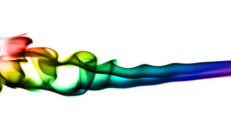 fume: Bright colorful fume waves over white background