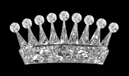 the corona: Side view of gemstone crown over black. Other gems are in my portfolio.