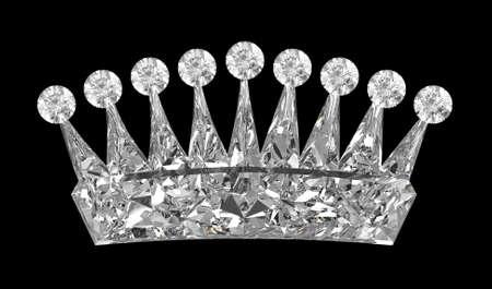 and authority: Vista lateral de la corona de piedras preciosas sobre negro. Otras gemas son en mi cartera.  Foto de archivo