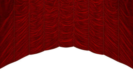 bordeaux: Bordeaux Red Curtain isolated over white. Beautiful textile pattern. Extralarge resolution Stock Photo