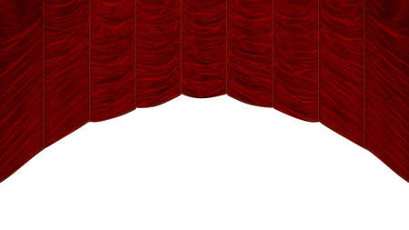 Red Curtain with beautiful textile pattern. Extralarge resolution photo