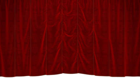 Red dropping Curtain with beautiful textile pattern. Extralarge resolution  photo