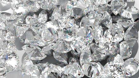 ダイヤモンド: ダイヤモンドの背景。宝石の大規模なグループ。使って巨大な解像度