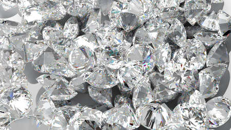 Diamond background. Large group of Jewels. Extralarge resolution Stock Photo