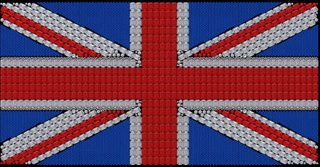 Great Britain Flag (Union Jack) assembled of diamonds. Over black. Extralarge resolution. Other gems are in my portfolio. photo