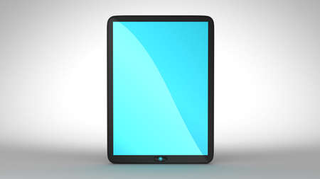 Tablet PC with blue colored screen. Extralarge resolution. Stock Photo - 7694227