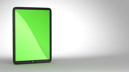 Modern Tablet PC with green colored screen. Free space for text. Extralarge resolution. Stock Photo - 7694224