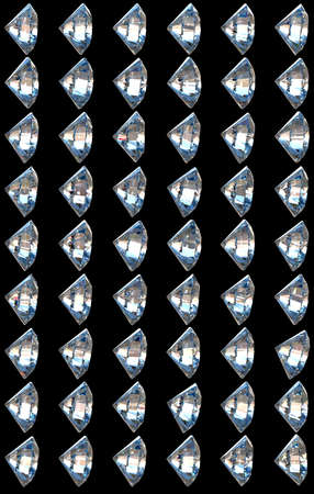 Side views of diamonds with different lighting settings and reflections Stock Photo - 7694978
