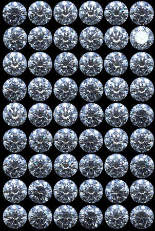 Collection of top views of diamonds with different lighting settings and reflections Stock Photo - 7694895