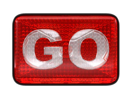 Go button or headlight isolated over white Stock Photo - 7694819