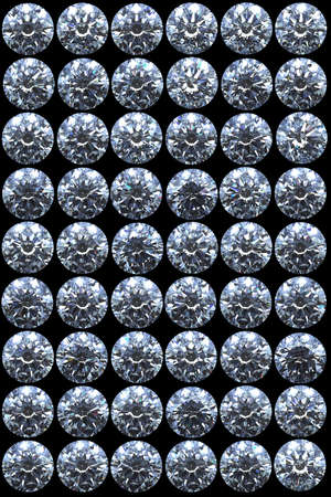 Top views of diamonds with different lighting settings and reflections Stock Photo - 7694981