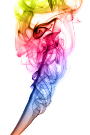 fume: Gradient colored Abstract fume shape over the white background
