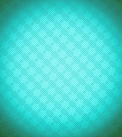 Turquoise - blue Xmas snowflake background. Stripes and vignetting added. Large resolution photo