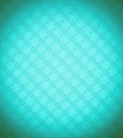 Turquoise - blue Xmas snowflake background. Stripes and vignetting added. Large resolution photo