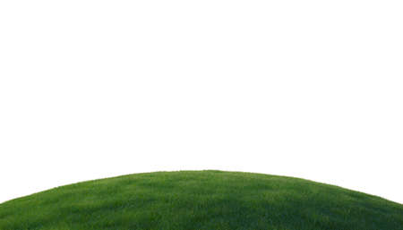 Green grass on hill isolated over white background Stock Photo - 8031376