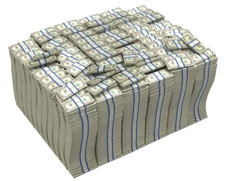 us paper currency: Much money. Huge pile of US dollars isolated